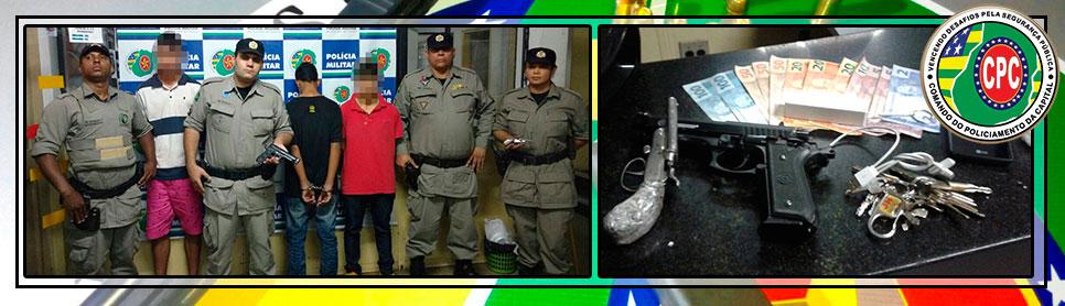 """Após """"sequestro relâmpago"""", criminosos são presos pela Polícia Militar"""