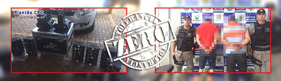 BPMEVE/CPC: Equipamentos de som furtados de dupla sertaneja são recuperados