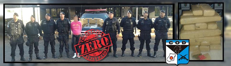 COD apreende 30 kg de droga e prende dois traficantes em flagrante delito