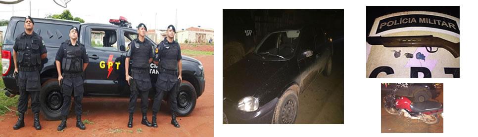 GPT do 17º BPM recupera veículo roubado e arma de fogo
