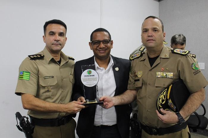 ST Cláudio é homenageado pelo CGF-PM em solenidade que contou com a presença do comandante geral da PMGO, CEL Brum