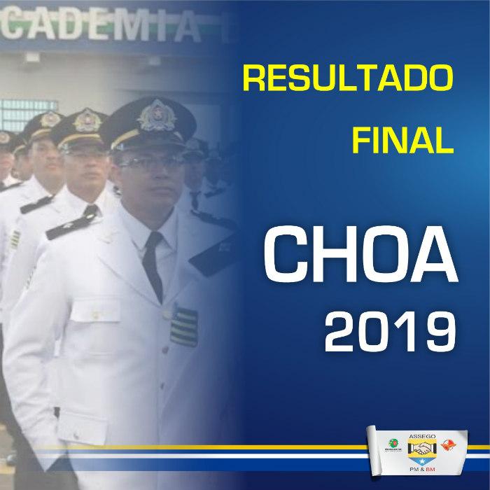 Divulgado o resultado dos classificados do CHOA 2019