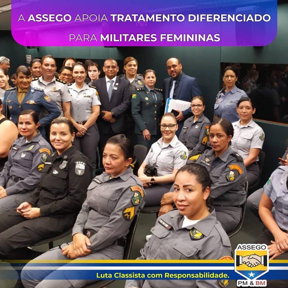 ASSEGO declara apoio às militares femininas do Brasil.