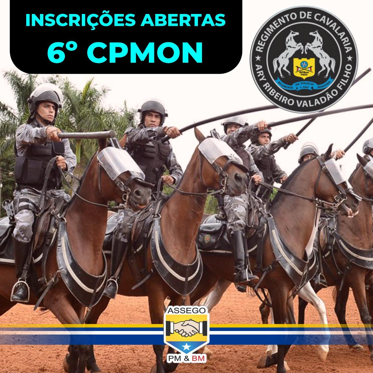 Inscrições Abertas para o 6° Curso de Policiamento Montado da PMGO.