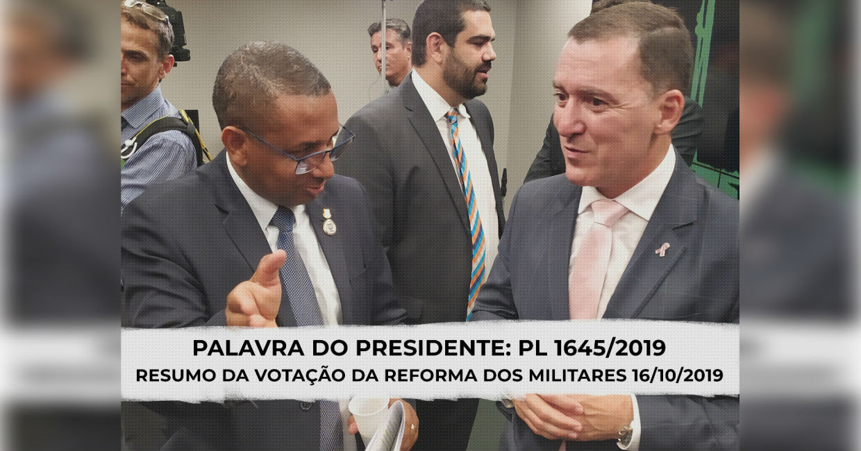 PALAVRA DO PRESIDENTE: PL 1645/2019