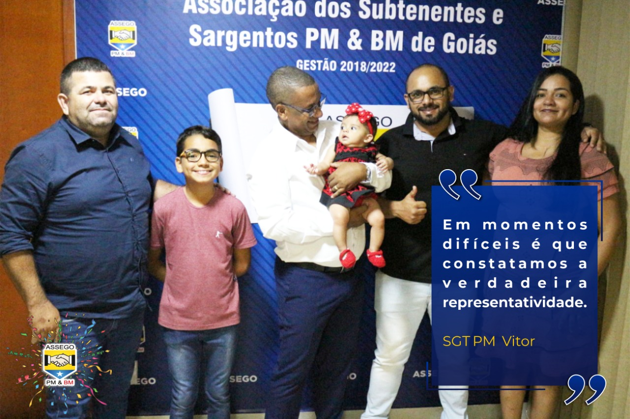 Sargento de Posse agradece a ASSEGO pelo apoio