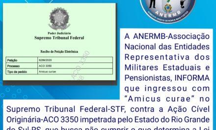 Lei 13.954/2019: ANERMB alega amicus curae no STF