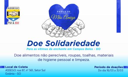 Campanha arrecada doações para vítimas de enchente, em Campos Belos