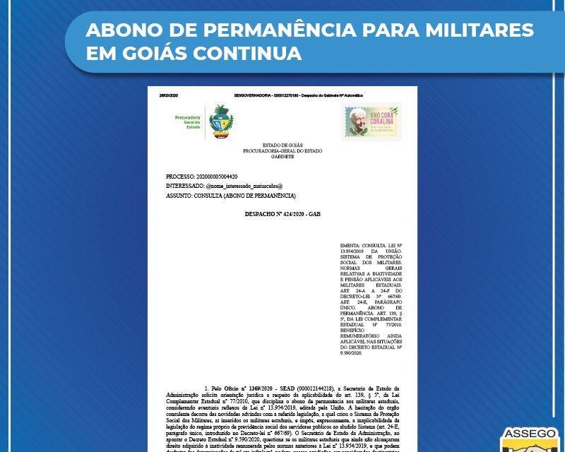 Abono de permanência para militares em Goiás continua