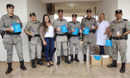 Assego distribui EPI's em Planaltina para policiais militares e bombeiros militares