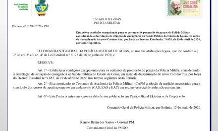 COMANDO GERAL PMGO ATENDE pedido das entidades e autoriza CONCLUSÃO do CAS, EAS,  EAC via EAD.