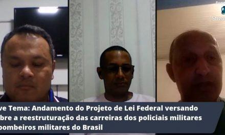 Presidente da ASSEGO ST Claudio e Diretor Jurídico ANERMB participa da Live na AME-MS falando sobre o projeto de Lei Federal reestruturação das carreiras dos policiais militares e bombeiros militares do Brasil